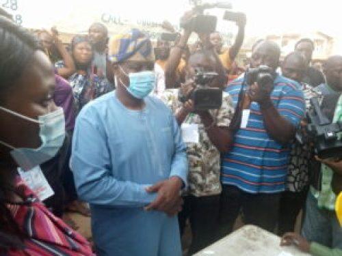 Lagos by-election: Gbadamosi votes in Ikorodu, seeks end to electoral violence