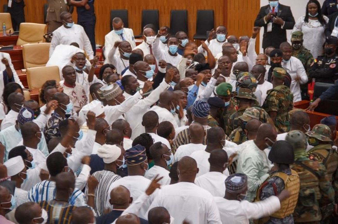 Ghana Army Stops Parliament Clash Ahead Of Swearing