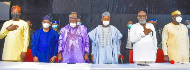 Photos of South-West governors, Miyetti Allah meeting