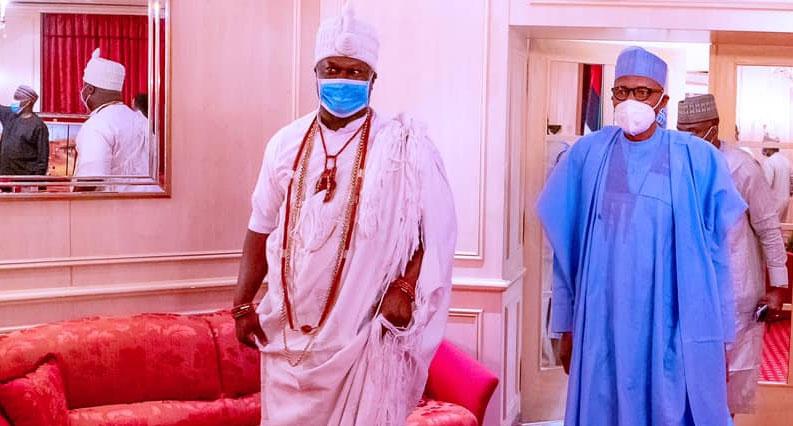 Ooni, President Buhari meet