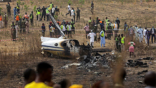 Burial of 7 Air Force officers who died in Abuja air crash underway