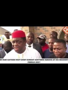 VIDEO: What Fani-Kayode said about herdsmen at Sunday Igboho's residence in Ibadan