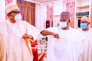 Buhari meets Gov Bello of Kogi, says Nigeria's unity not negotiable