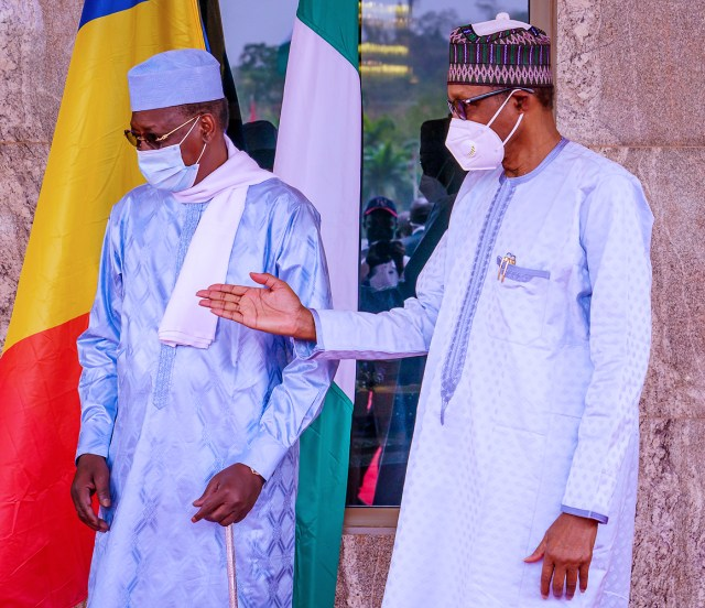 Buhari, Chadian president meet behind closed doors in Abuja
