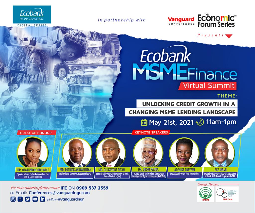 Ecobank Partners Vanguard Economic Forum Series, convenes MSME Finance  Summit on lending to small businesses - Vanguard News