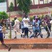 PHOTOS: Armed thugs disrupt Kaduna NLC protest