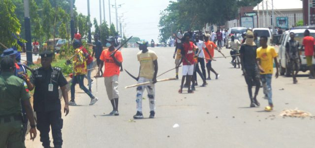 Pic16 Armed thugs disrupt NLC protest in Kaduna