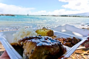 DIBS ON DA RIBS – MAUI, HI – USA - A perfect moment at the beach with some ribs