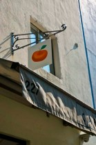 CAFE CLEMENTINE – NEW YORK CITY, NY – USA - Entrance sign