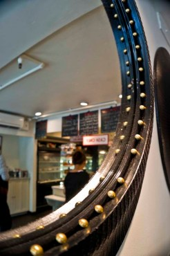 CAFE CLEMENTINE – NEW YORK CITY, NY – USA - A mirror in each coffee shop