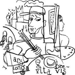 Joep Nicolas in Asselt, vignet van de kunstenaar