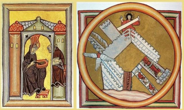 Hildegard van Bingen, miniaturen uit het Liber scivias.