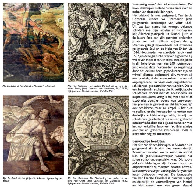 De genade voorbij | Daantje Meuwissen legt uit waarom het Laatste Oordeel van de hand van Jacob Czn van Oostsanen is. Screenshot van het artikelin de Jacobsbode uit 2009.