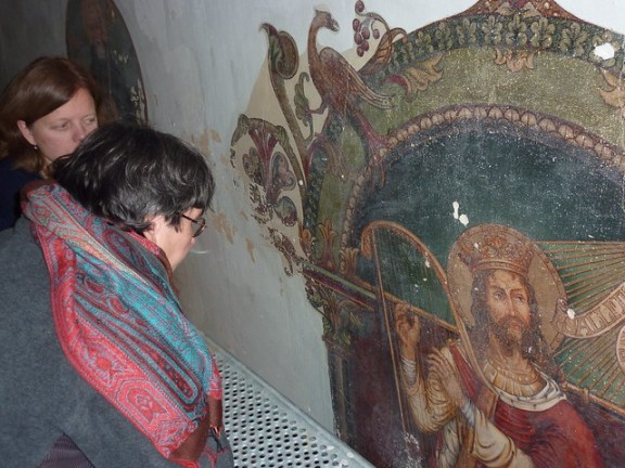 Clemenskerk Merkelbeek met Angelique Friedrichs van de SRAL en Bernadette van Hellenberg Hubar