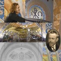 Jojanneke Post ontmoet Kees Dunselman in de schilderingen in de kathedraal van Rotterdam