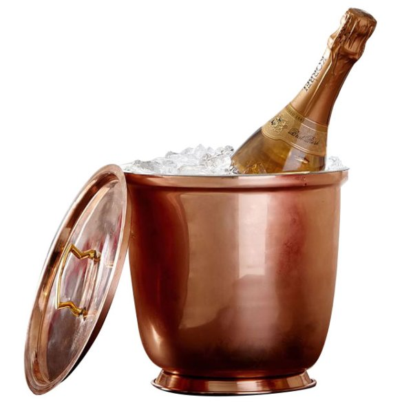 Copper Lidded Ice Bucket