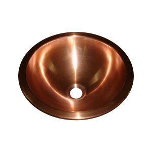 Copper Sink Double Walled Smooth Finish