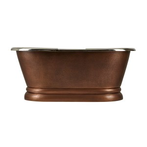 Copper Pedestal Tub Nickel Interiors