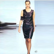 HELMUT LANG LEATHER CUTOUT DRESS, 1997