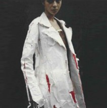 HUSSEIN CHALAYAN 'PAPER' COAT, 1994