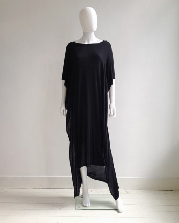 vintage Maison Martin Margiela black square maxi dress
