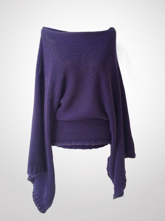 Ann Demeulemeester purple jumper back