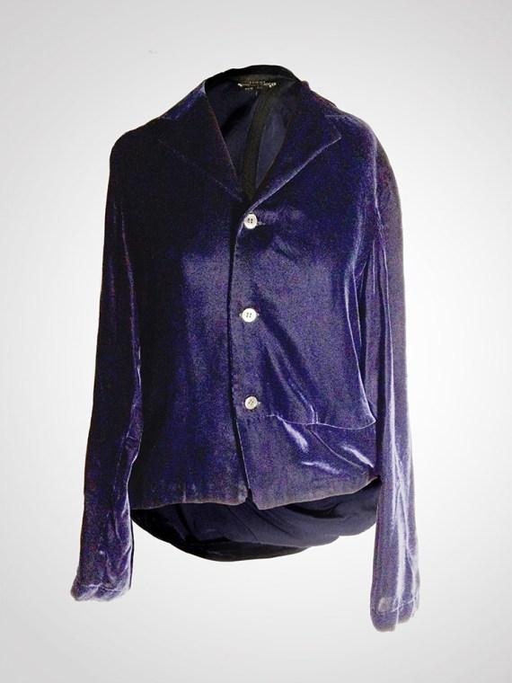 Comme des Garçons blue velvet blazer