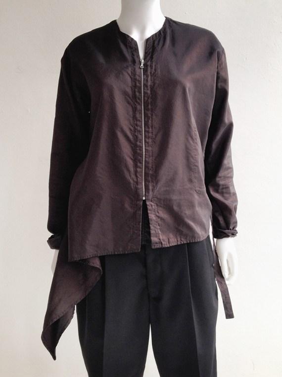 second hand Dries Van Noten purple bomber jacket