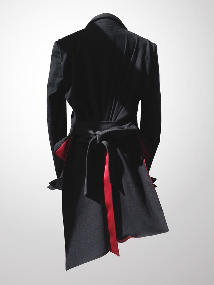 Haider Ackermann spring 2011 runway jacket back