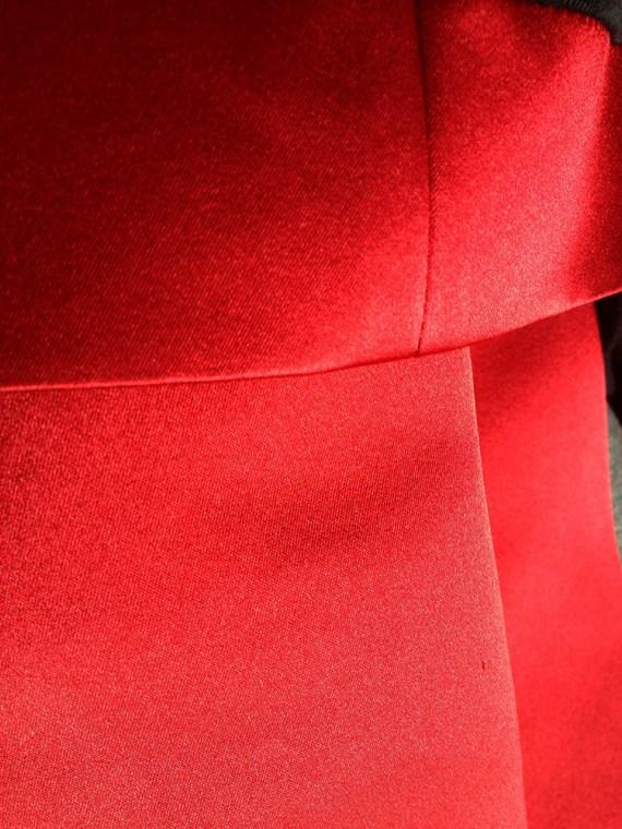 Haider Ackermann spring 2011 runway jacket red