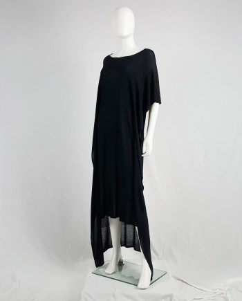 Maison Martin Margiela 1 black square maxi dress
