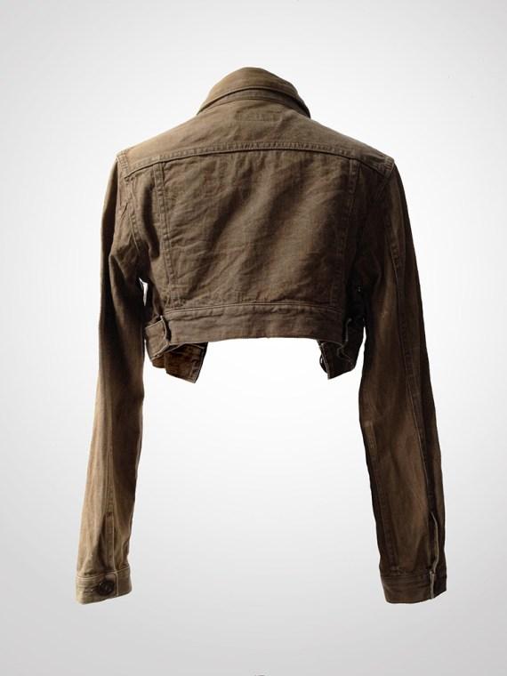 Yohji Yamamoto cropped jeans jacket back