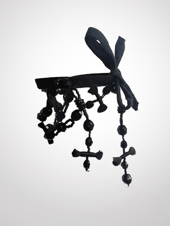 vintage Ann Demeulemeester rosary bracelet - F/W 2005