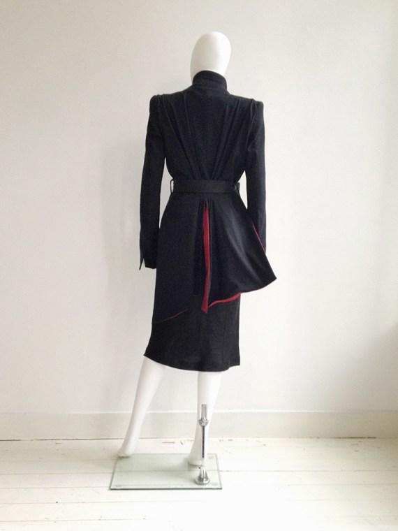 Tim Van Steenbergen black belted dress | Haider Ackermann black spring 2011 runway jacket | shop at vaniitas.com