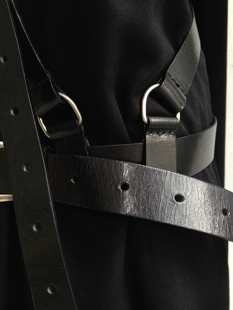 vintage Ann Demeulemeester leather body harness - fall 2004