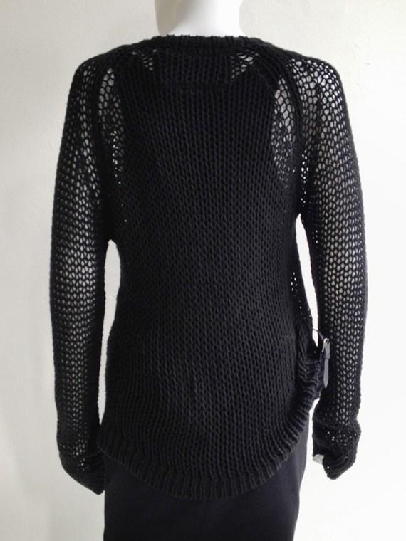 vintage A.F. Vandevorst black buckle jumper