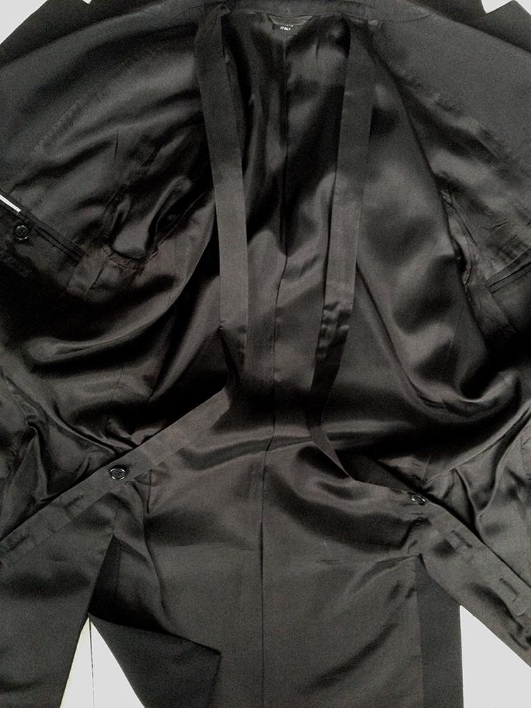 archive original Helmut Lang black bondage straps blazer — fall 2002