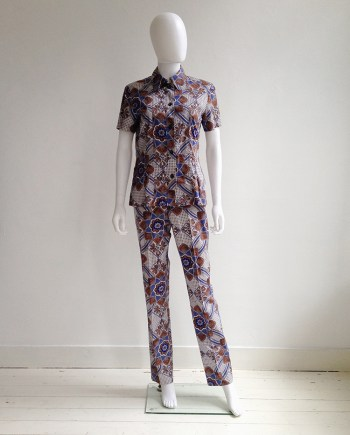 Dries Van Noten blue and white floral batik suit — fall 1997 | shop at vaniitas.com