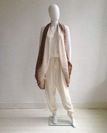 Maison Martin Margiela ombre transformable dress — spring 2003 | Ann Demeulemeester white track pants | shop at vaniitas.com