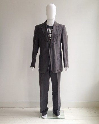 vintage Maison Martin Margiela 10 grey suit