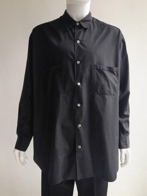 Yohji Yamamoto homme mens black oversized shirt archive 80s 1980top1
