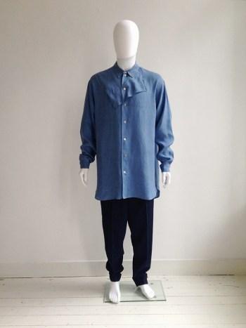 archive Yohji Yamamoto pour Homme blue handkerchief shirt — 80s