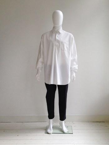 Gothic Yohji Yamamoto white shirt with double collar