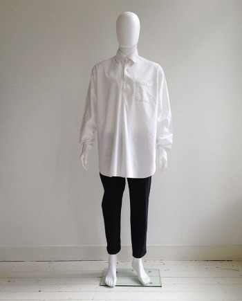 Gothic Yohji Yamamoto white shirt with double collar