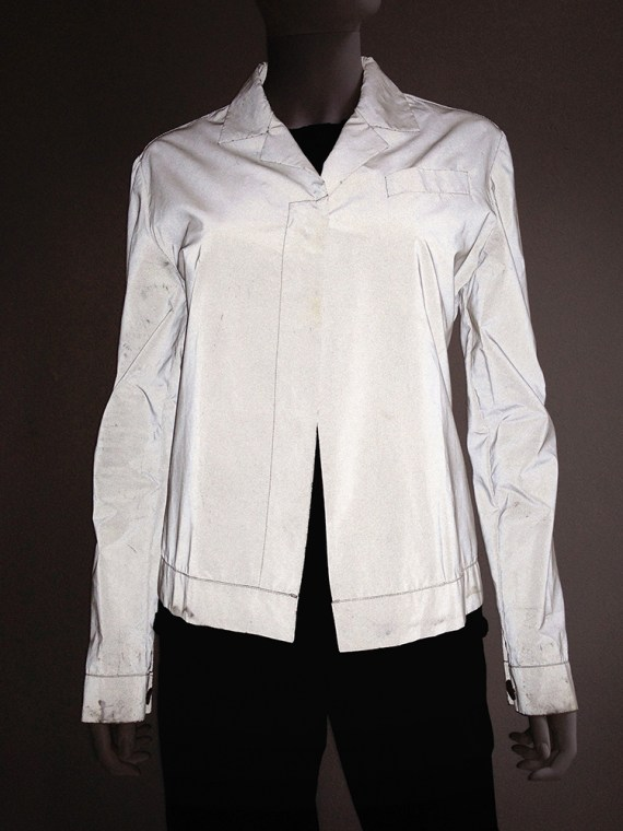 Helmut Lang archive white reflective jacket – fall 1994 -top2