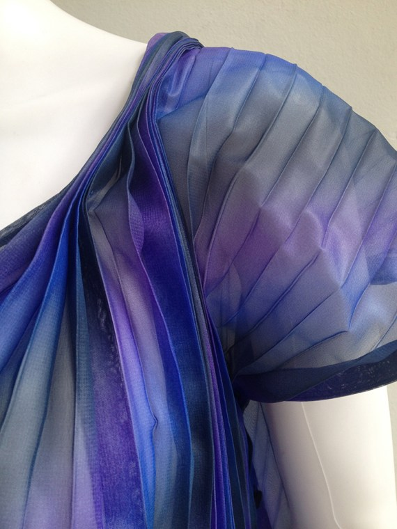 Issey Miyake Fete purple pleated transformation top 3145