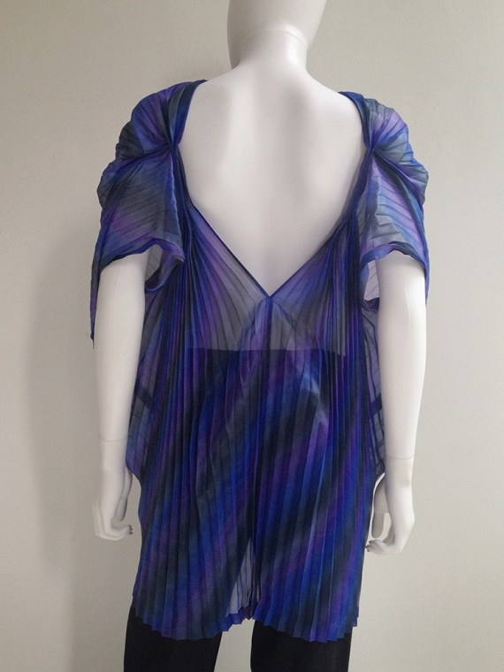 Issey Miyake Fete purple pleated transformation top top8