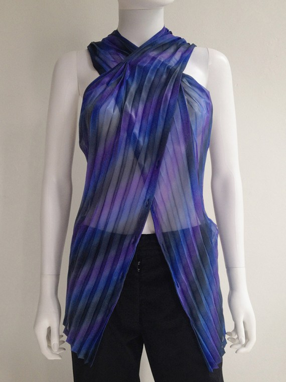 Issey Miyake Fete purple pleated transformation top top9