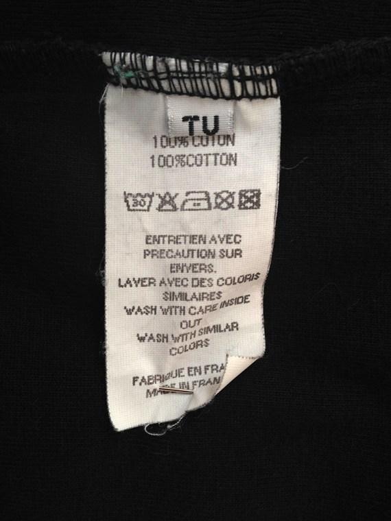 Maison Martin Margiela artisanal black t-shirt cardigan couture archive 0775