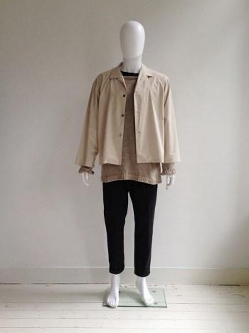 Yohji Yamamoto pour Homme beige summer jacket